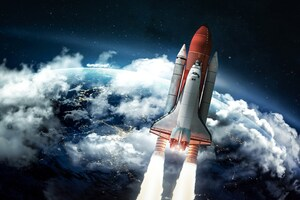 Rocket Heading Towards Space Wallpaper