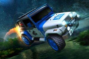 Rocket League Jurassic World JW 18 Car Wallpaper