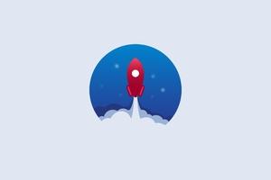Rocket Minimalist 4k Wallpaper