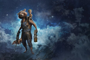 Rocket Raccoon And Baby Groot Summer Of Heroes Wallpaper