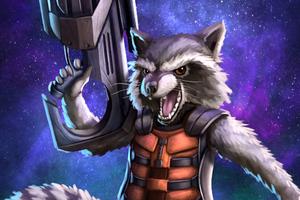 Rocket Raccoon Art Wallpaper