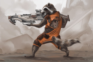 Rocket Raccoon Artwork 4k Wallpaper