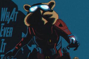Rocket Raccoon Avengers End Game Minimal 4k Wallpaper