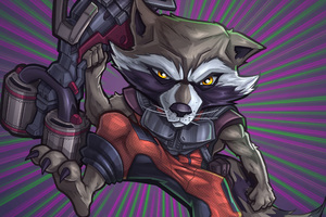 Rocket Raccoon Digital Artwork