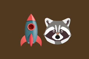 Rocket Raccoon Funny Artwork Wallpaper
