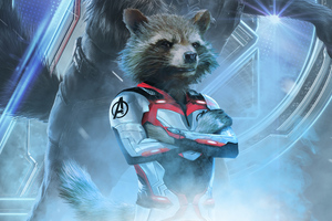 Rocket Raccoon In Avengers Endgame 2019