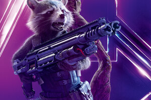 Rocket Raccoon In Avengers Infinity War 8k Poster