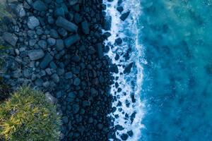 Rocks And Sea 4k Wallpaper