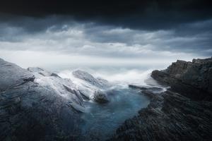 Rocks Cliffs Long Exposure Photography
