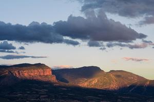 Rocks Mountains Clouds Daylight 5k