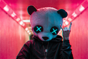 Rockstar Panda 4k Wallpaper