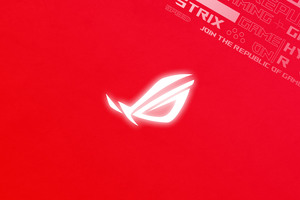 Rog Logo Red Background 4k