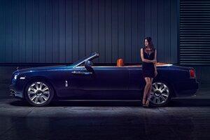 Rolls Royce Dawn Model Posing Wallpaper
