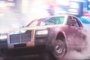 Rolls Royce Drift Smoke 5k Wallpaper