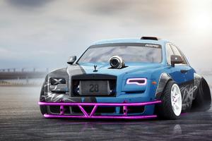 Rolls Royce Ghost Digital Art 4k