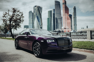 Rolls Royce Wraith Black And Bright 8k Wallpaper