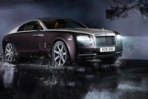 Rolls Royce Wraith In Rain 4k Wallpaper