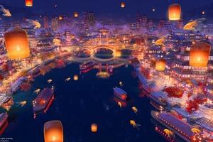 Romantic City 4k Wallpaper