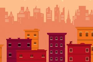 Roof Buildings Silhouette Minimal 5k Wallpaper