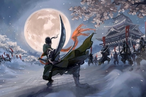 Roronoa Zoro Vs Kanda Yu Battles 4k Wallpaper