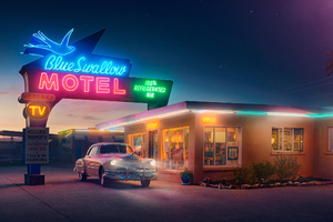Route Station Motel Wallpaper