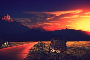 Route Us 66 Photography 4k