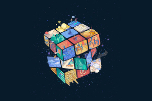 Rubik Cube 5k Wallpaper