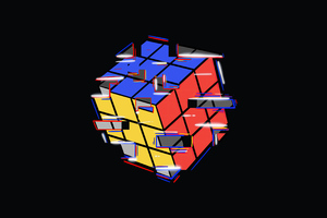 Rubik Cube Abstract 4k