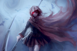 Ruby Rose Anime Girl Wallpaper