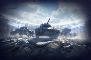 Russian Tanks Art Wallpaper
