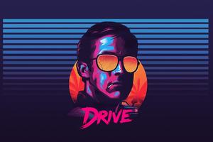 Ryan Gosling Retrowave 4k