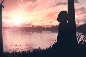 Sad Anime Girl 4k Wallpaper