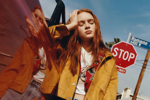Sadie Sink Pull And Bear 2019 Wallpaper