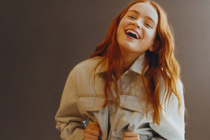 Sadie Sink Pull And Bear Photoshoot 2019