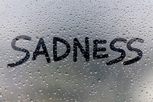 Sadness Glass Drops Typography 5k