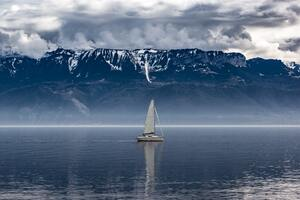 Sailboat Seascape Landscape