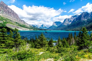 Saint Mary Lake Glacier National Park Wallpaper