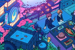 Sakura Dinner Time Wallpaper