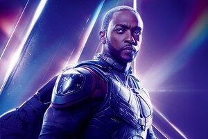 Sam Wilson In Avengers Infinity War 8k Poster