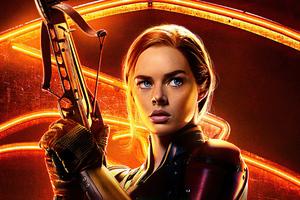 Samara Weaving As Scarlett In Snake Eyes Wallpaper
