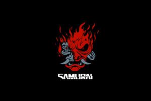 Samurai Cyberpunk Minimal Dark 8k Wallpaper