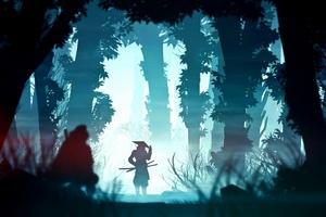 Samurai Digital Art 4k