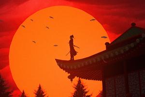 Samurai Evening 4k Wallpaper