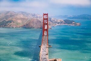 San Francisco Bridge Aerial View 5k Wallpaper