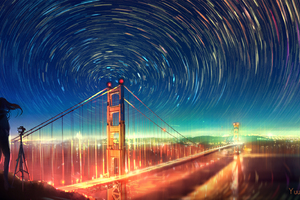 San Francisco Bridge Infinite Lights Artwork