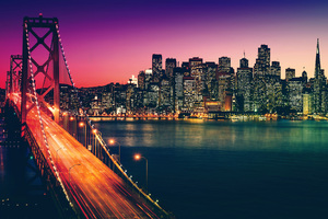 San Francisco California Cityscape 4k
