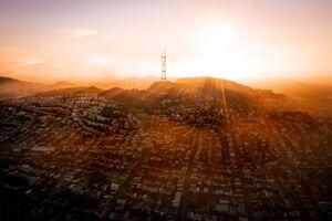 San Francisco Skyline Drone View