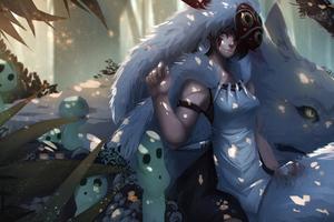San Mononoke Anime Girl 4k Wallpaper