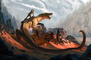 Sand Dragon 4k Wallpaper