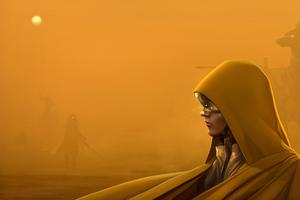 Sand Storm Girl In Hood 4k Wallpaper
